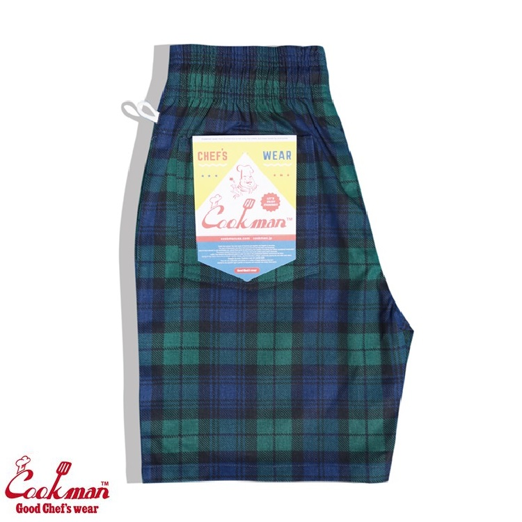 シェフパンツ Chef Pants Short Black Watch Check