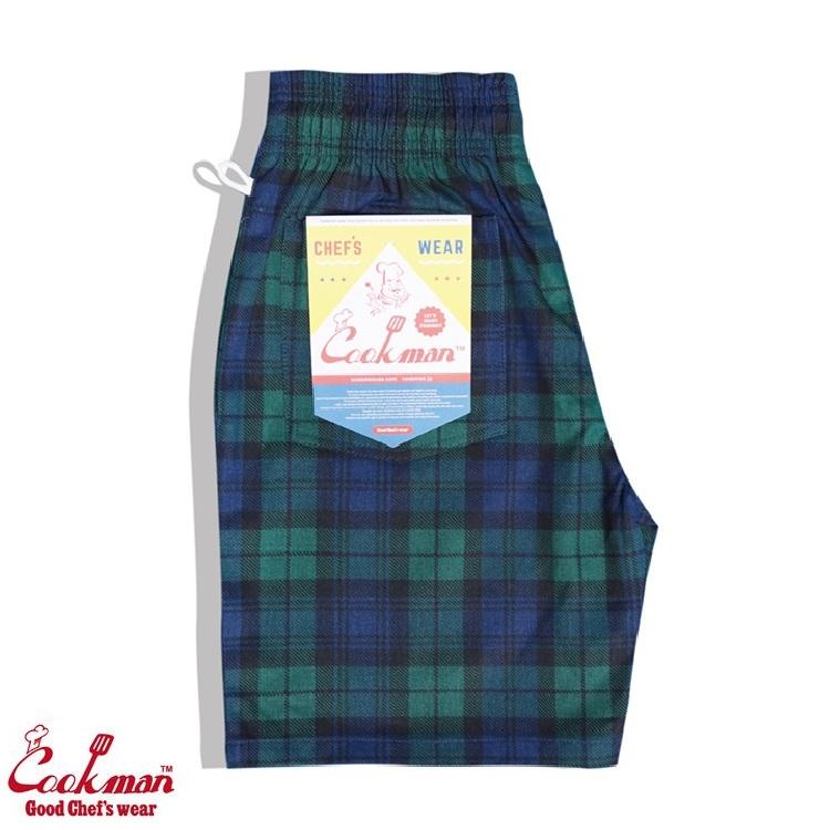 シェフパンツ Chef Pants Short Black Watch Check