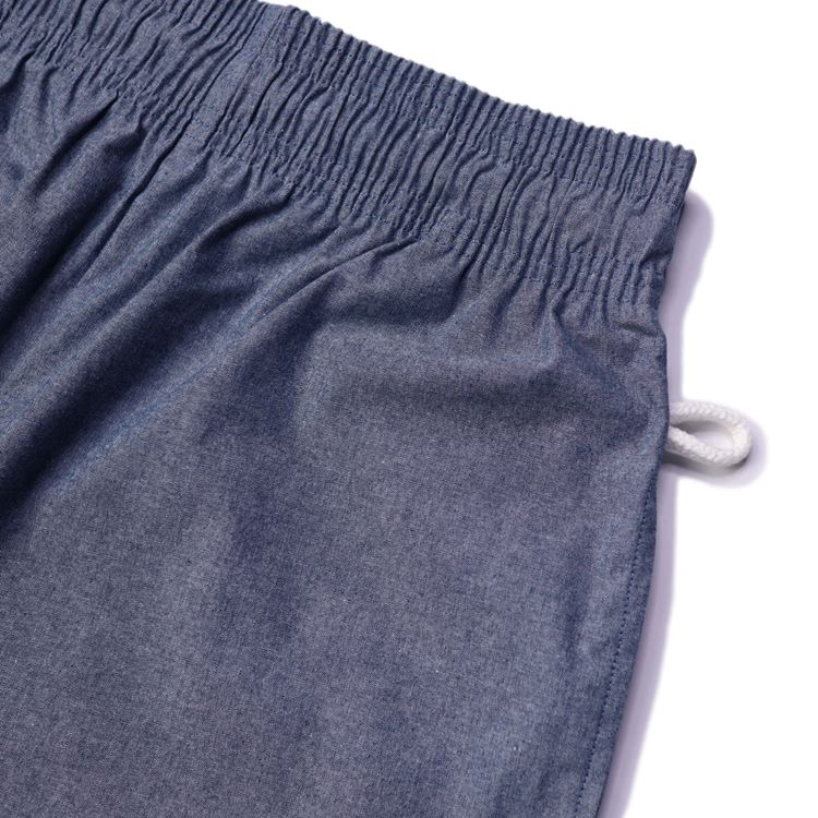 シェフパンツ Chef Pants Short Chambray Light Blue