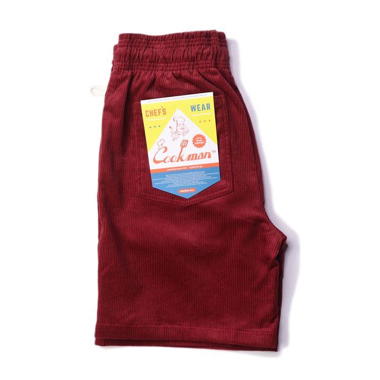 シェフパンツ Chef Pants Short Corduroy Wine Red