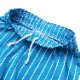 シェフパンツ Chef Pants Short Stripe Light Blue
