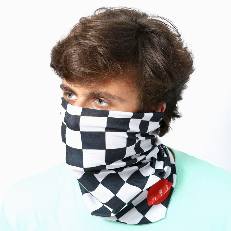 スカーフ Chef's Scarf  Checker Black