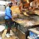 シェフパンツ Chef Pants Short Cargo Ripstop Camo Black (Woodland)