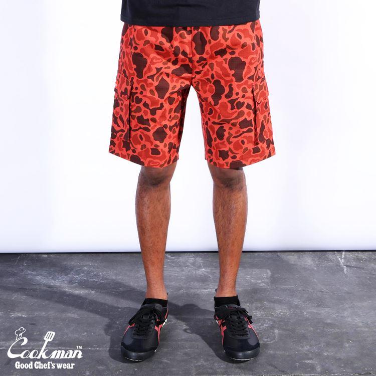 シェフパンツ Chef Pants Short Cargo Ripstop Camo Red (Duck Hunter)