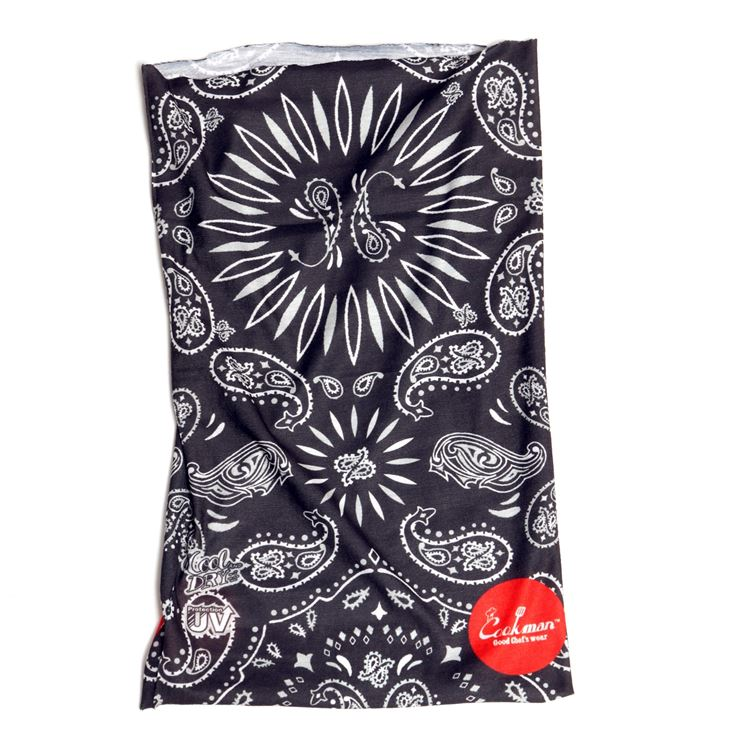 Chef's Scarf  「Paisley」 Black