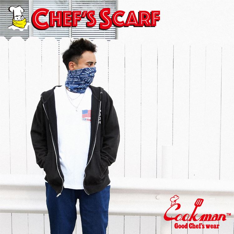 Chef's Scarf  「Paisley」 Navy