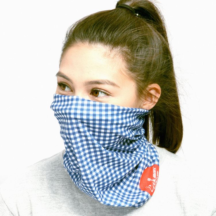 Chef's Scarf  「Gingham」 Navy