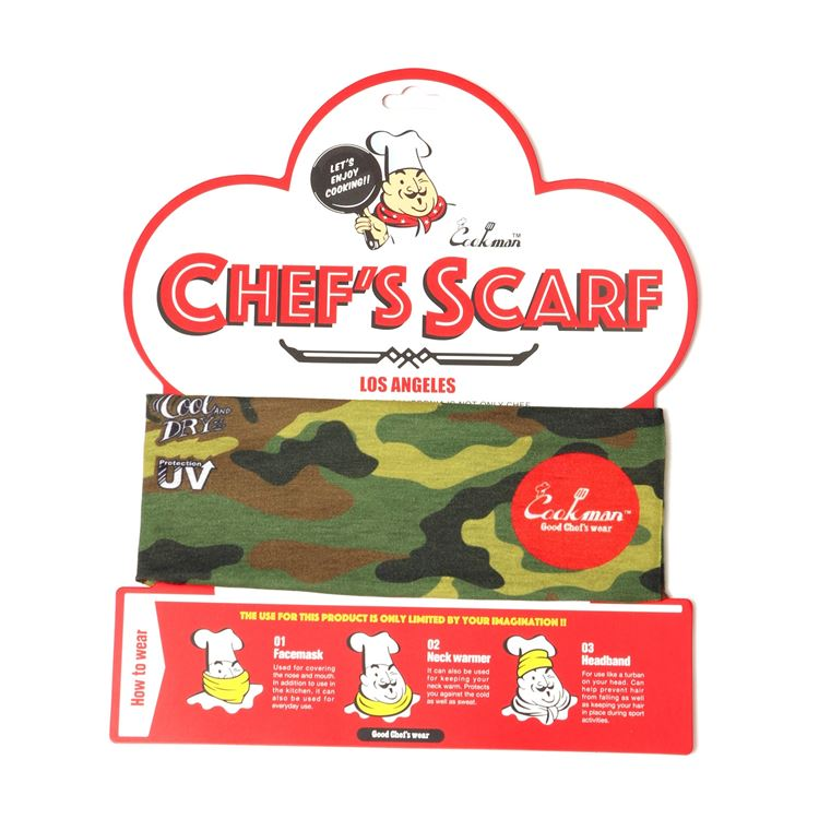スカーフ Chef's Scarf  Camo Green (Woodland)