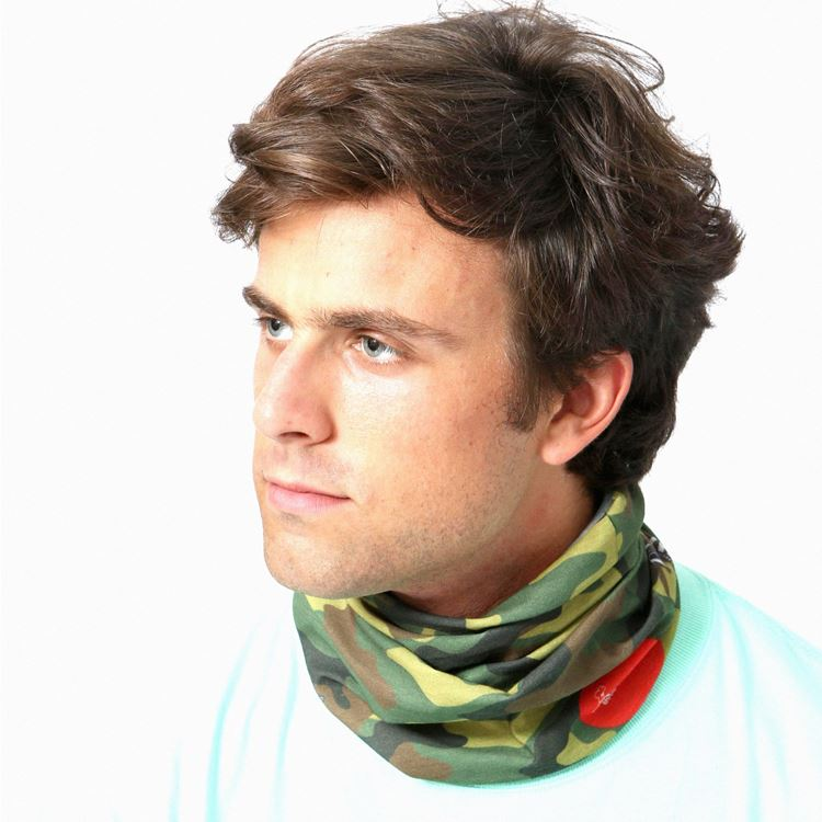 Chef's Scarf  「Camo Green」 (Woodland)