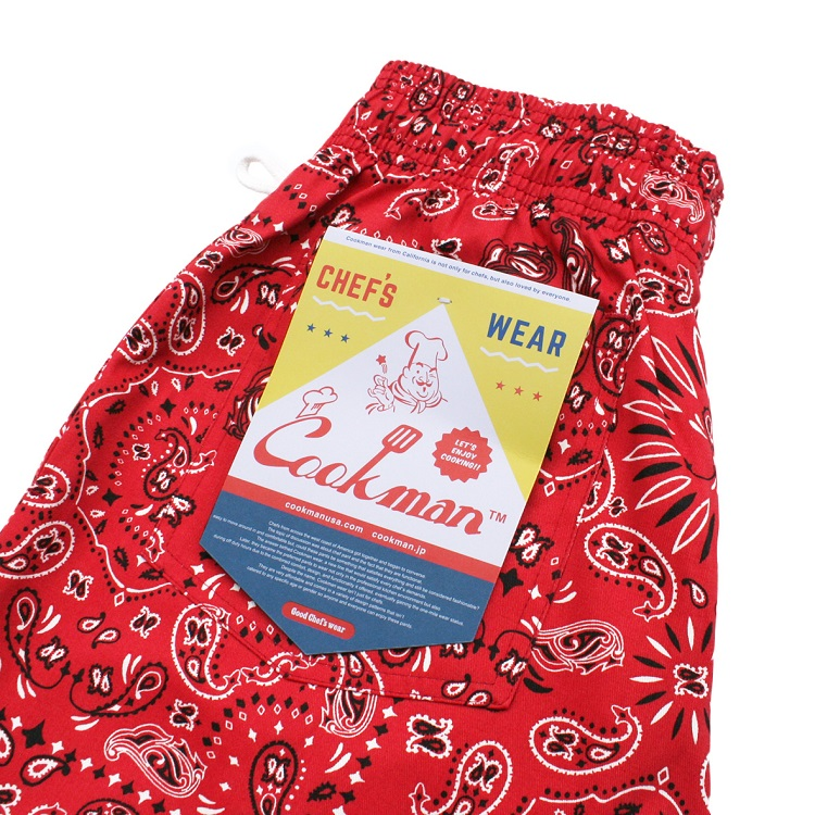 Chef Pants 「Paisley」 Red