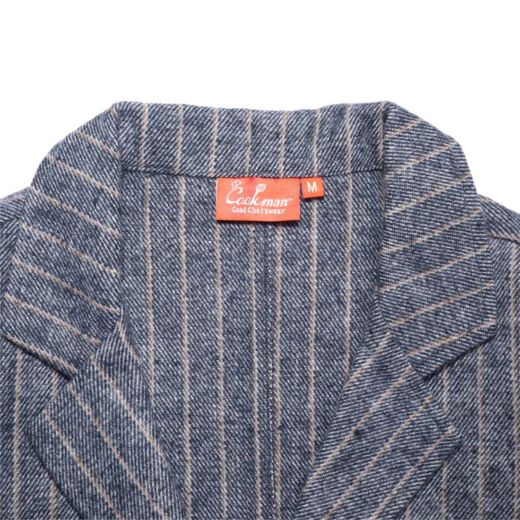 Lab.Jacket 「Wool Mix Stripe」 Light Gray