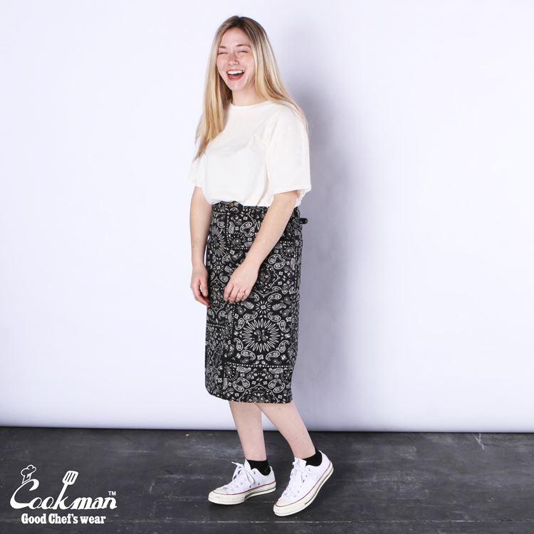 スカート Baker's Skirt Paisley Black