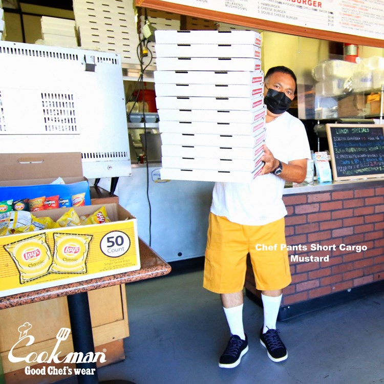 シェフパンツ Chef Pants Short Cargo Mustard