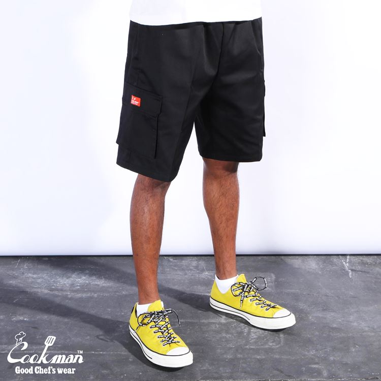 シェフパンツ Chef Pants Short Cargo Black