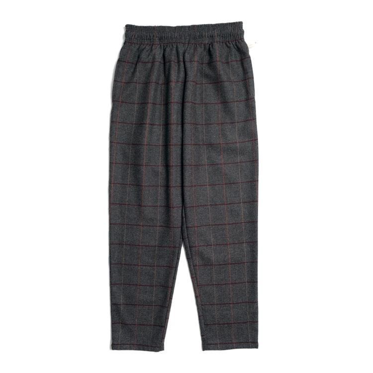 Chef Pants 「Wool Mix Check」 Gray