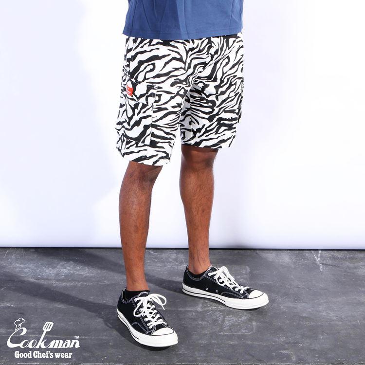シェフパンツ Chef Pants Short Cargo Zebra