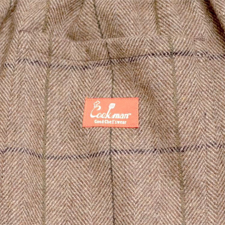 Chef Pants 「Wool Mix Check」 Brown