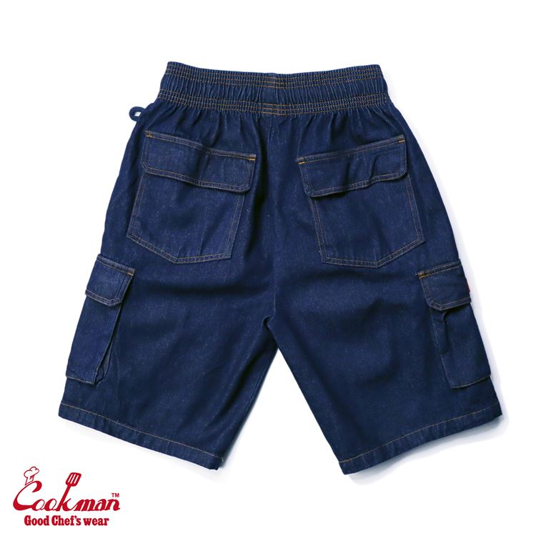 シェフパンツ Chef Pants Short Cargo Denim Navy