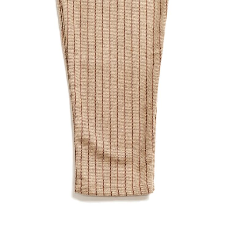 Chef Pants 「Wool mix Stripe」 Beige
