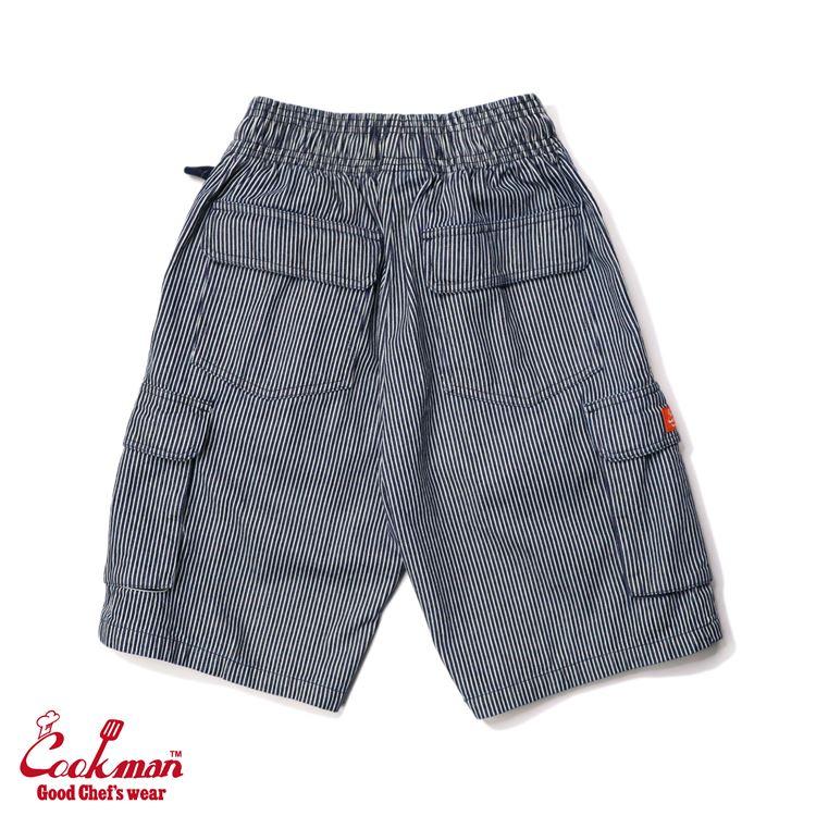 シェフパンツ Chef Pants Short Cargo Hickory Navy