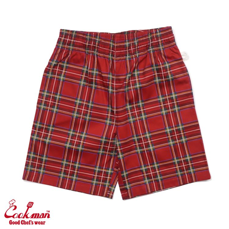 シェフパンツ Chef Pants Short Tartan Red