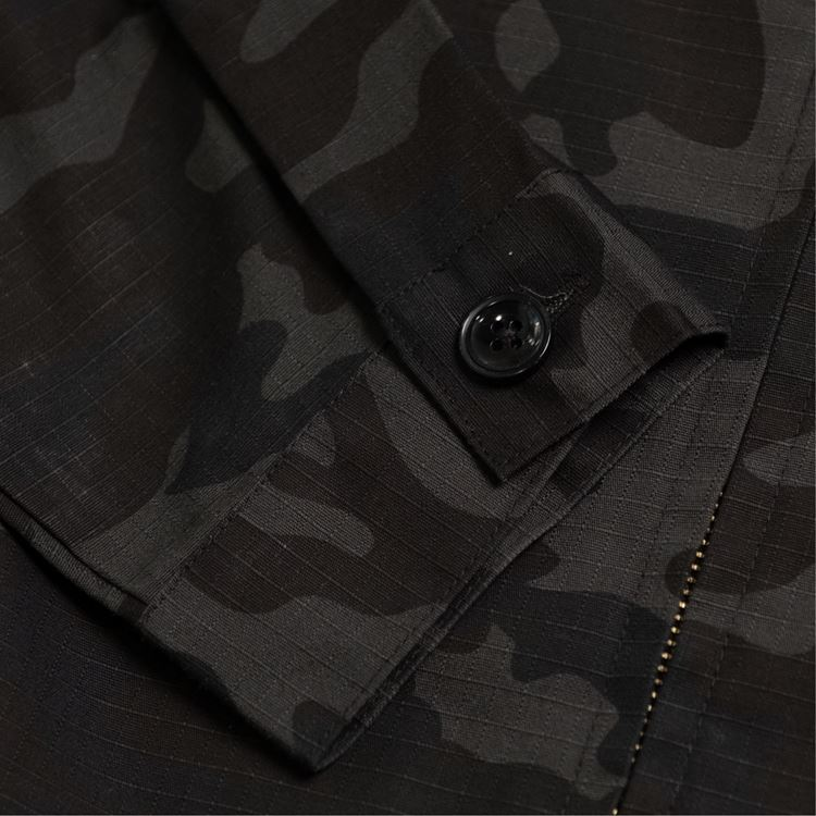 デリバリージャケット Delivery Jacket Ripstop Camo Black (Woodland)