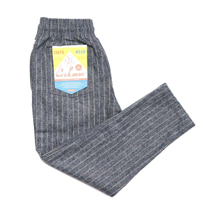 Chef Pants 「Wool Mix Stripe」 Light Gray