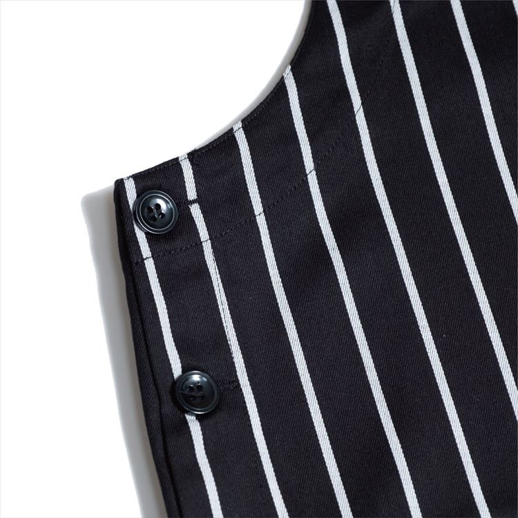 Fisherman's Bib Overall 「Stripe」 Black
