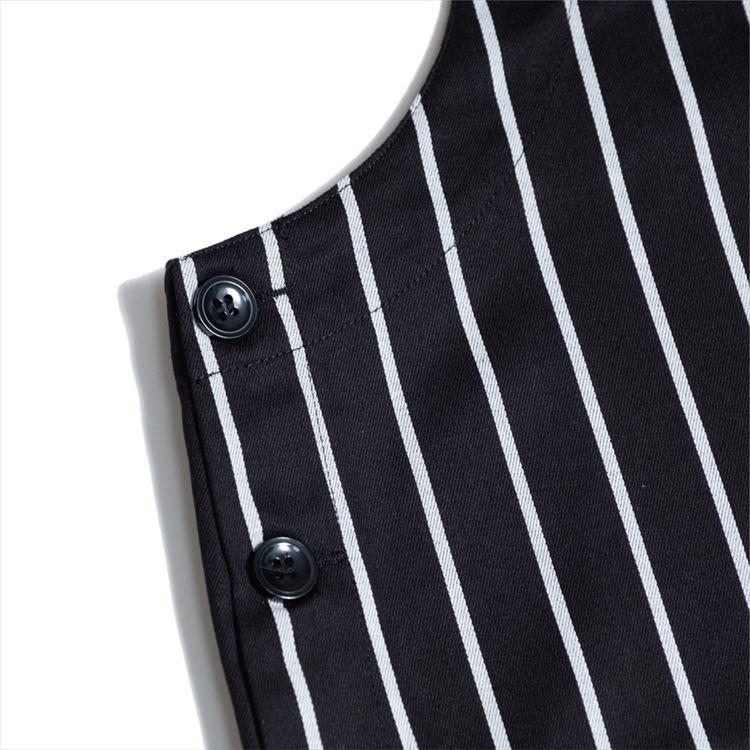 オーバーオール Fisherman's Bib Overall Stripe Black