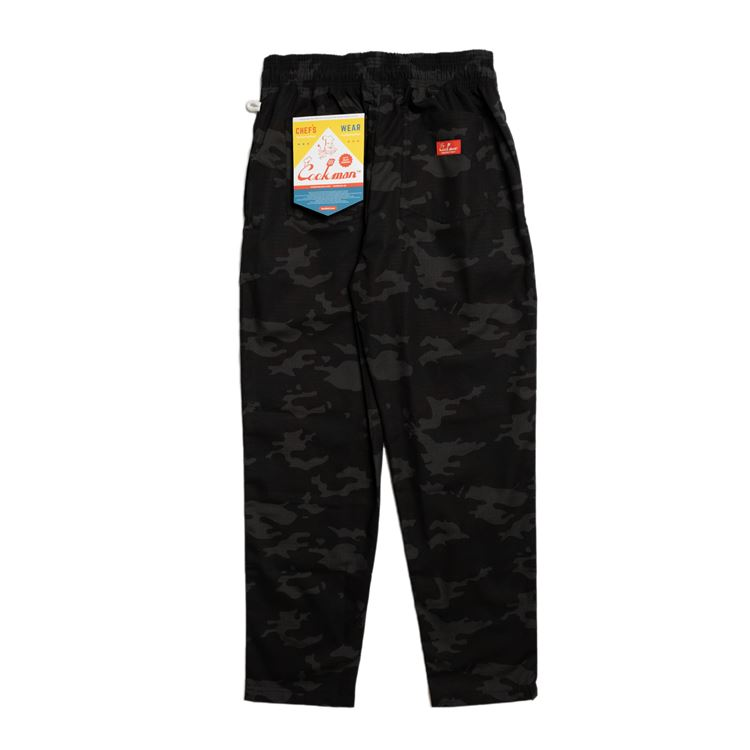 Chef pants 「Ripstop」 Camo Black (Woodland)