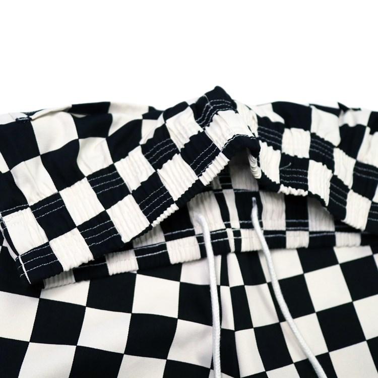 ワイドシェフパンツ Wide Chef Pants Checker Black