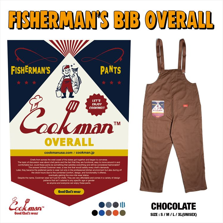 Fisherman's Bib Overall 「Chocolate」