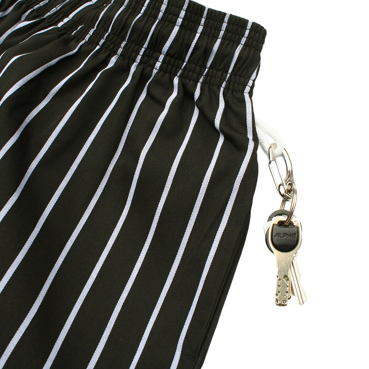 Chef Short Pants 「Stripe」 BLACK