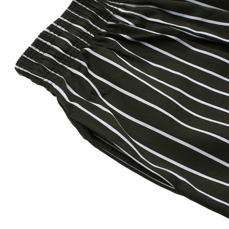 シェフパンツ Chef Pants Short Stripe Black