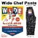 ワイドシェフパンツ Wide Chef Pants Paisley Black