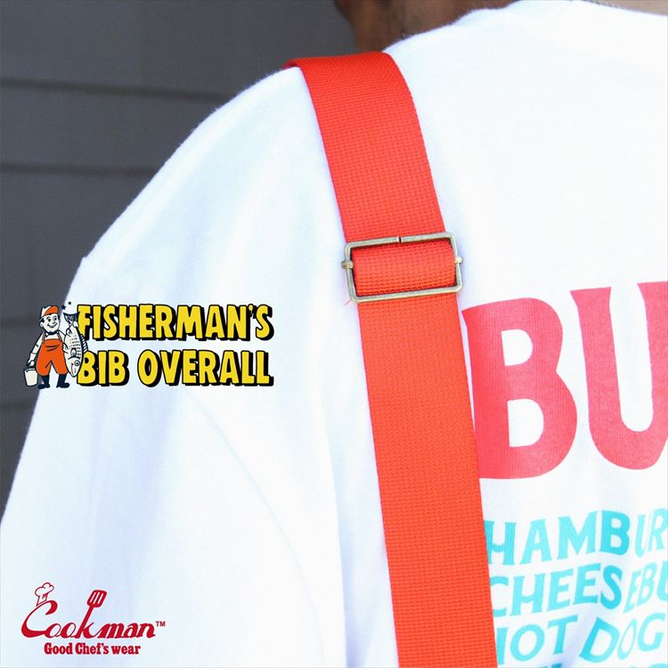 Fisherman's Bib Overall 「Orange」