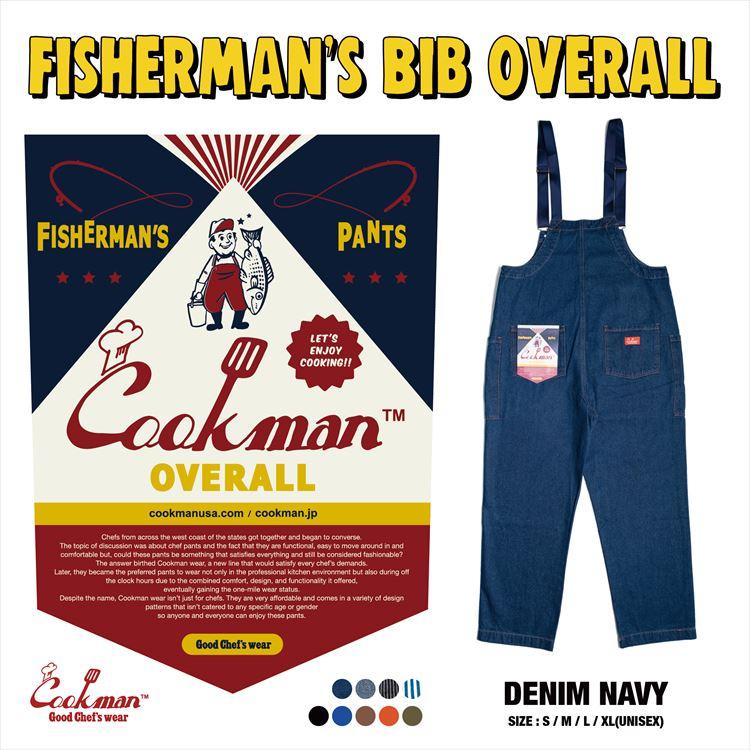 Fisherman's Bib Overall 「Denim」 Navy