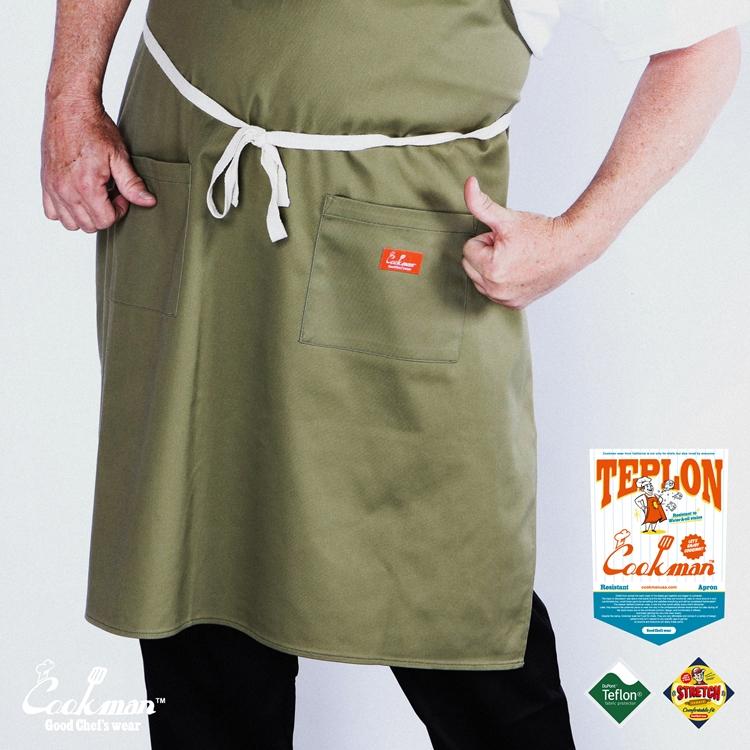 ロングエプロン Teplon Long Khaki