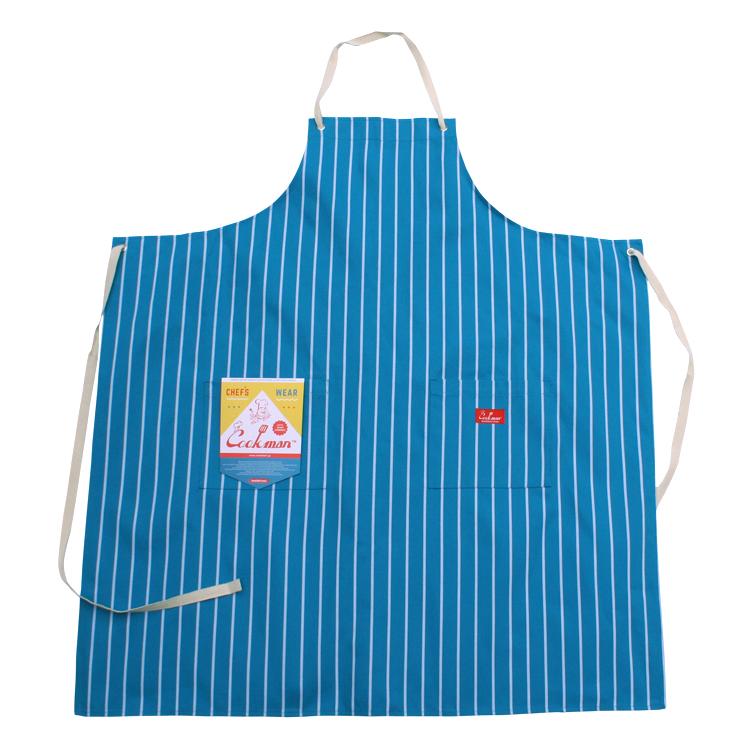 ロングエプロン Long Apron Stripe L/Blue