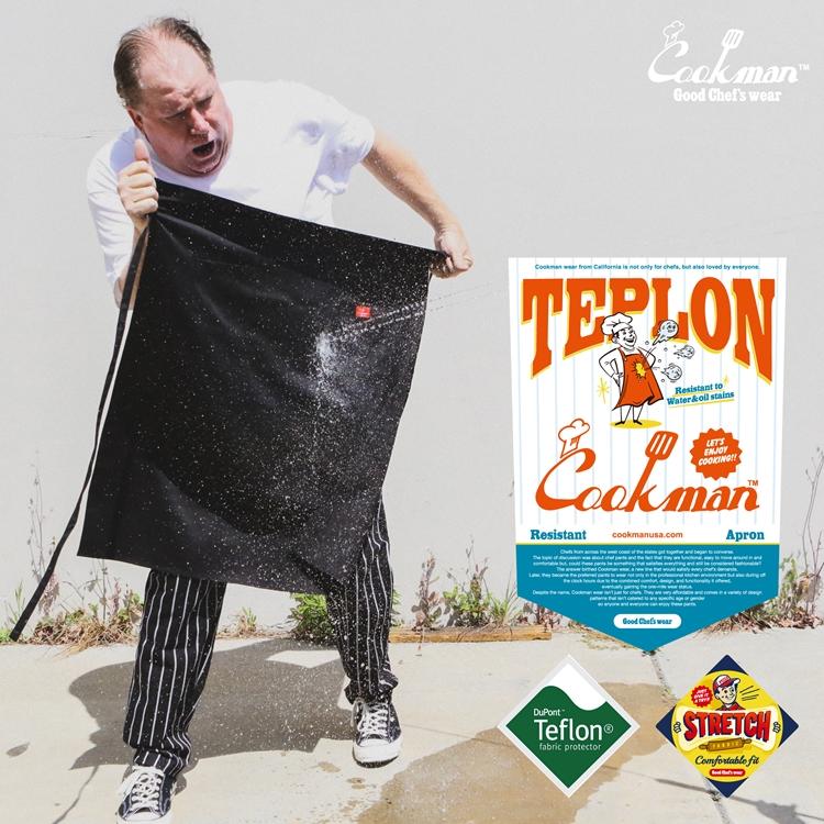 ロングウエストエプロン Long Waist Apron Teplon Black