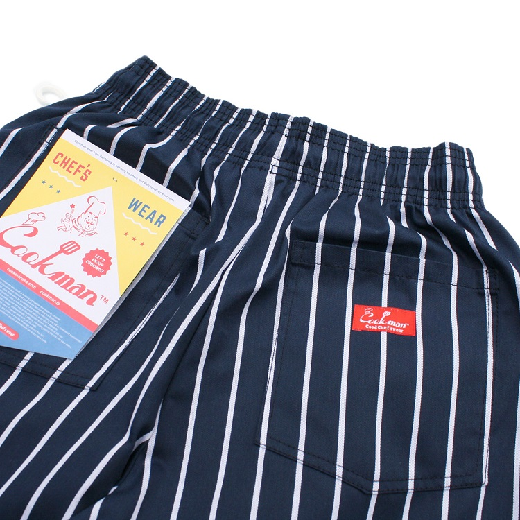 Chef Pants 「Stripe」 Navy BIG SIZE