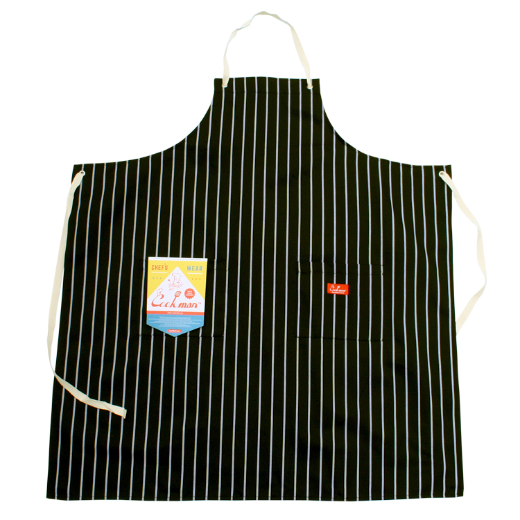 Long Apron 「Stripe」 Black