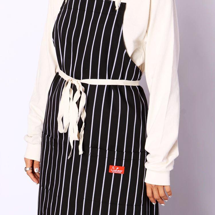 Long Apron 「Stripe」 Black