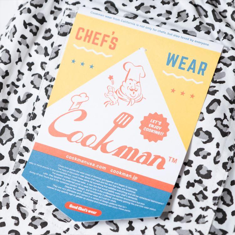 シェフパンツ Chef Pants Short Snow Leopard