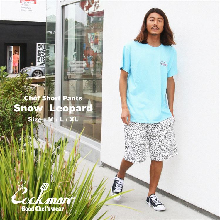 Chef Short Pants 「Snow Leopard」