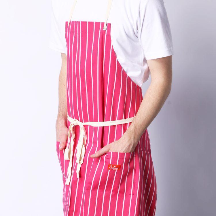 ロングエプロン Long Apron Stripe Pink