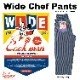 ワイドシェフパンツ Wide Chef Pants Hickory Navy