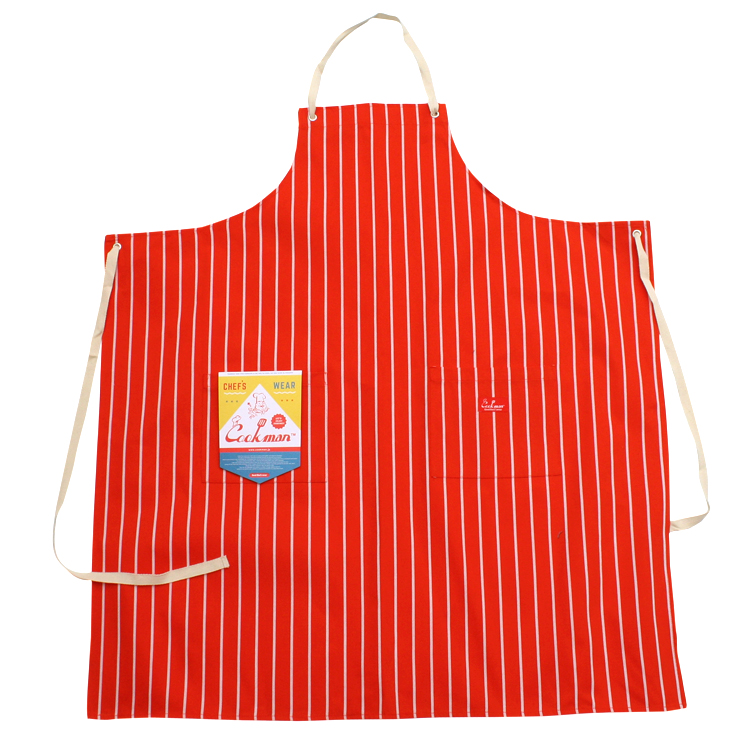 Long Apron 「Stripe」 Orange