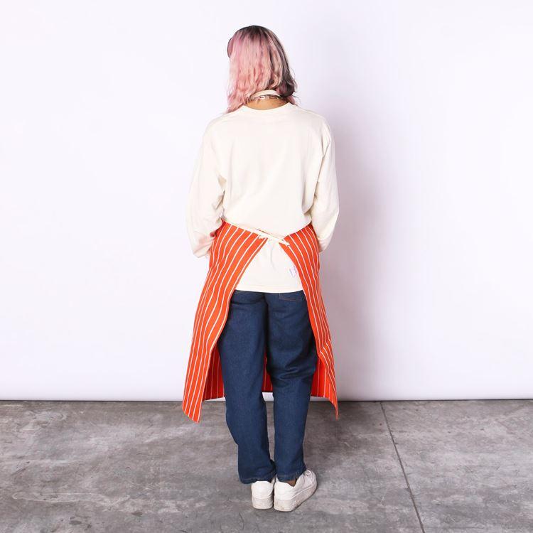 ロングエプロン Long Apron Stripe Orange