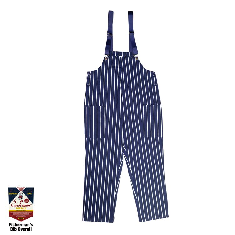 Fisherman's Bib Overall 「Stripe」 Navy